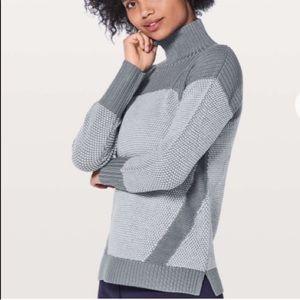 LULULEMON Warm & Restore Sweater Gray 6